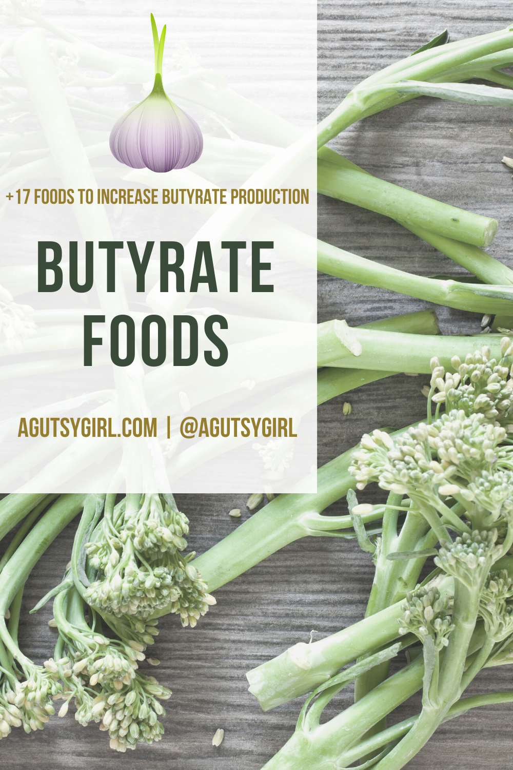 Butyrate Foods agutsygirl.com #butryrate #foodlist #guthealth