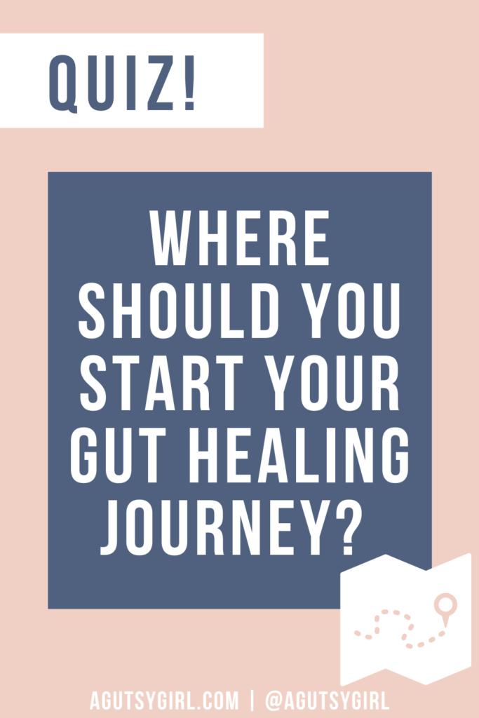 Where to start on my gut healing journey agutsygirl.com quiz gut health diet #guthealth