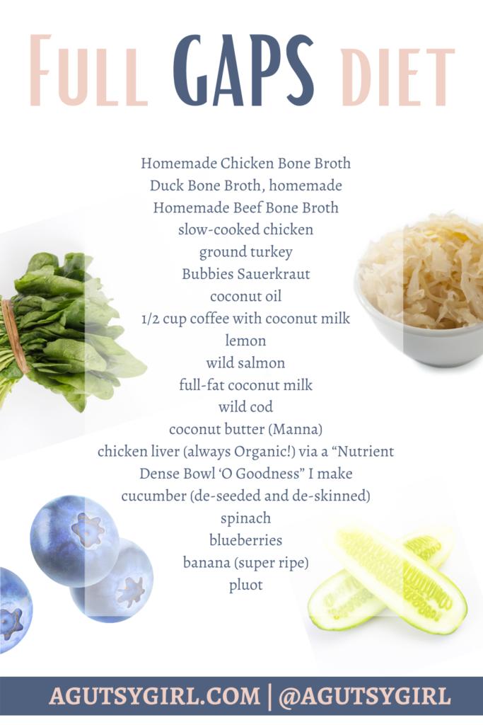 Full GAPS Diet agutsygirl.com #gapsdiet #guthealth #healing