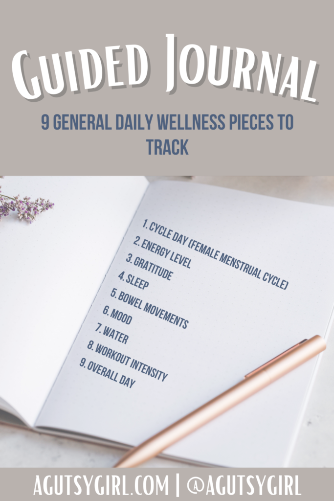 Guided Journal 9 things to track agutsygirl.com #guidedjournal #womensjournal #journaling