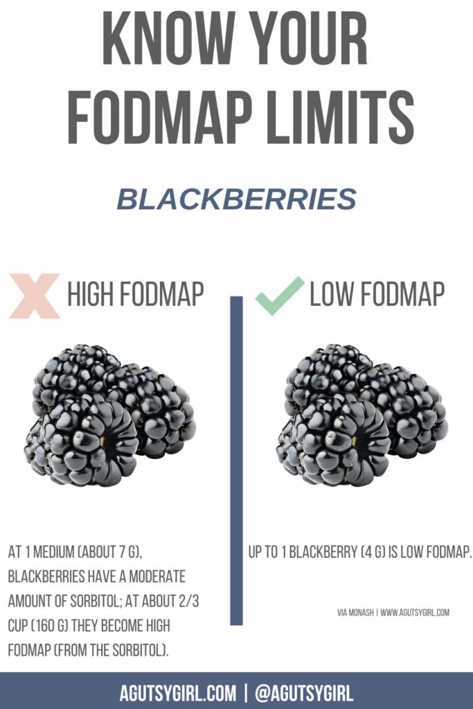 blackberries high FODMAP sorbitol agutsygirl.com #fodmap #SIBO #sorbitol #blackberries