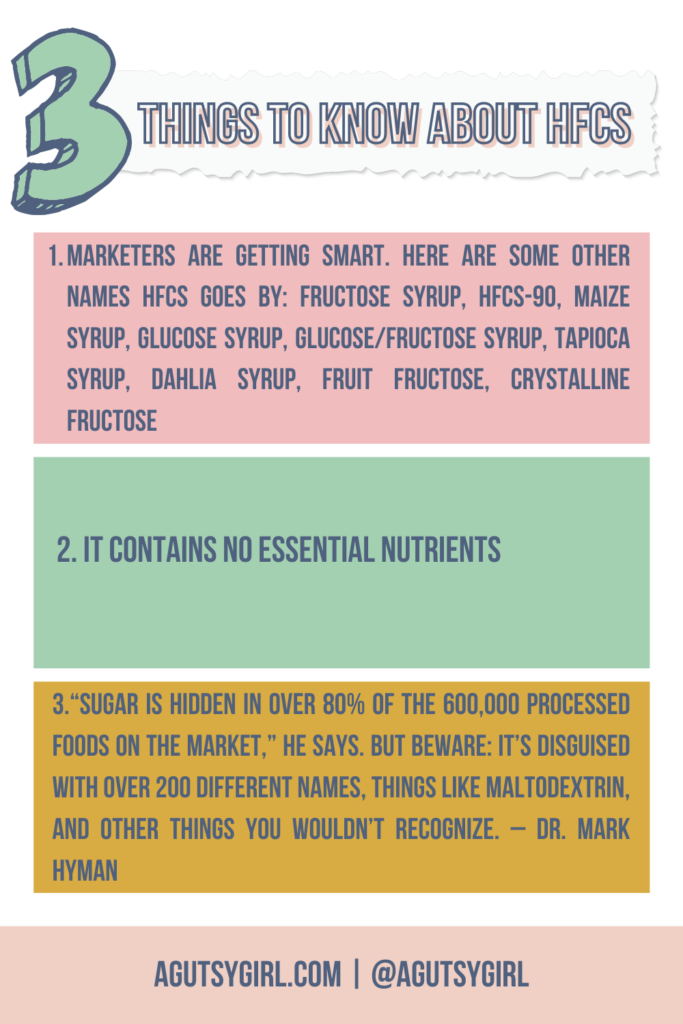 3 Things to Know about Corn Syrup Corn Syrup and Leaky Gut agutsygirl.com #cornsyrup #hfcs #leakygut